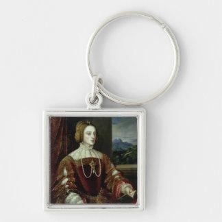 ポルトガルの皇后イザベラのポートレート キーホルダー