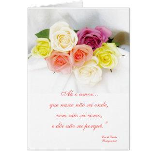 ポルトガルの詩人によってLuis de Camoess -詩を愛して下さい カード