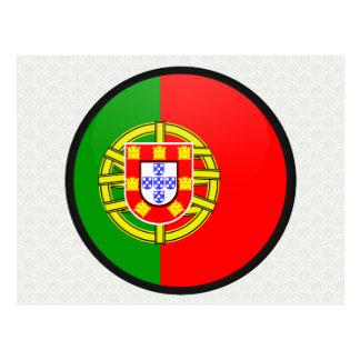 ポルトガルの質の旗の円 ポストカード