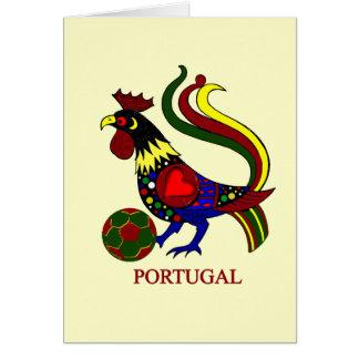 """ポルトガルのbarcelos """"galo"""" jogador de futebol カード"""
