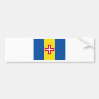 ポルトガルマデイラの旗 バンパーステッカー