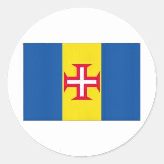 ポルトガルマデイラの旗 ラウンドシール