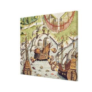 ポルトガル人とフランス人間の海戦 キャンバスプリント