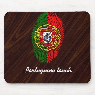 ポルトガル人のtouchの指紋の旗 マウスパッド