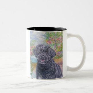ポルトガル水犬のマグ ツートーンマグカップ