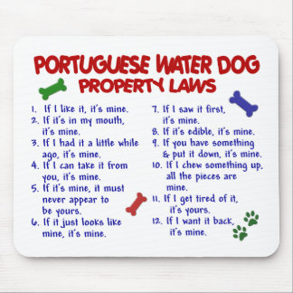 ポルトガル水犬の特性の法律2 マウスパッド