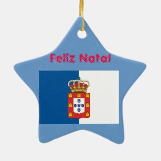 ポルトガル王室のなFlag*およびSintraのクリスマスのオーナメント セラミックオーナメント
