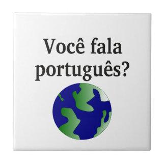 ポルトガル語を話しますか。 ポルトガル語。 地球を使って タイル