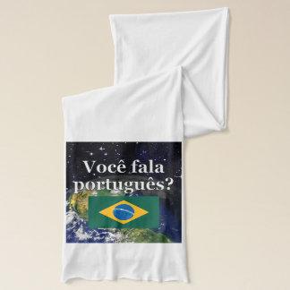 ポルトガル語を話しますか。 ポルトガル語。 旗の地球 スカーフ