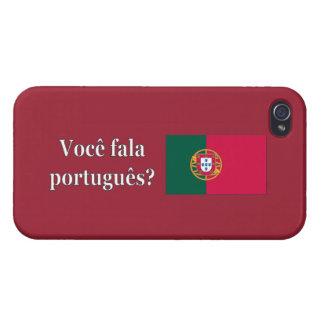 ポルトガル語を話しますか。 ポルトガル語。 旗のwf iPhone 4/4S case
