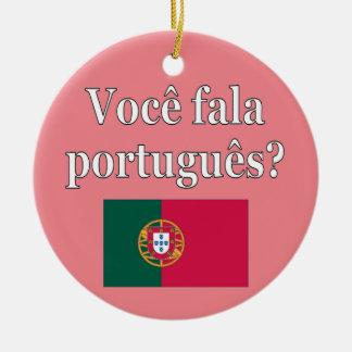 ポルトガル語を話しますか。 ポルトガル語。 旗 セラミックオーナメント
