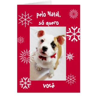 ポルトガル語: Peloの出生のsóのクエーロのvocê カード