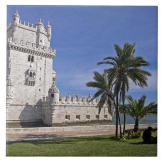 ポルトガル、リスボン。 ベレンタワー、ユネスコの世界2 タイル
