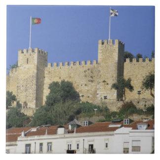 ポルトガル、リスボン。 Castelo de Saoホルヘ タイル