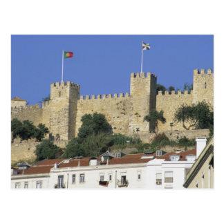 ポルトガル、リスボン。 Castelo de Saoホルヘ ポストカード