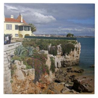 ポルトガル、Cascais。 プライアda Rainhaの2のビーチ タイル