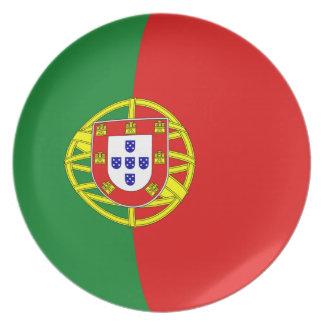 ポルトガルFisheyeの旗のプレート ディナー皿