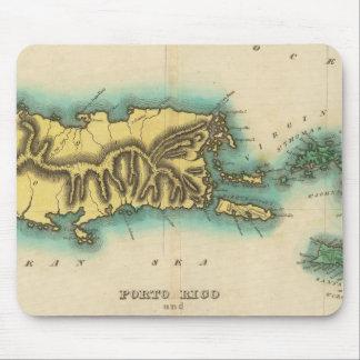 ポルトリコおよびバージン諸島の地図 マウスパッド