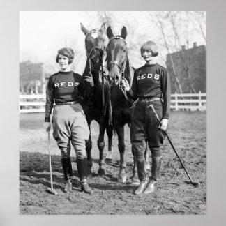 ポロの女性: 1925年 ポスター