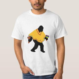 ポンチョが付いているSquatcho deメーヨー氏 Tシャツ