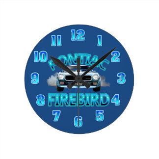 ポンティアクの火の鳥の時計 ラウンド壁時計