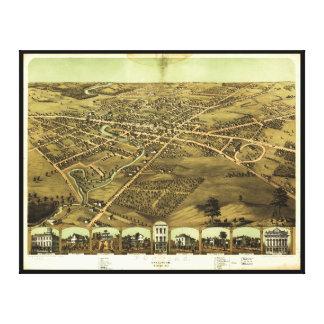 ポンティアクOakland郡ミシガン州(1867年) キャンバスプリント