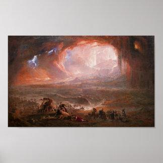 ポンペイおよびHerculaneumの破壊 ポスター
