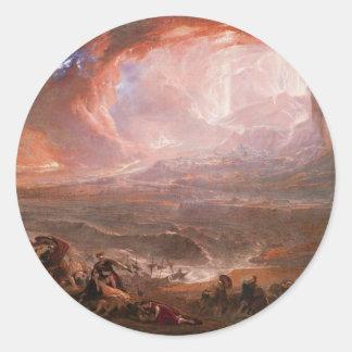 ポンペイおよびHerculaneumの破壊 ラウンドシール
