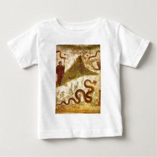 ポンペイのバッカスおよび蛇Agathodaimon ベビーTシャツ