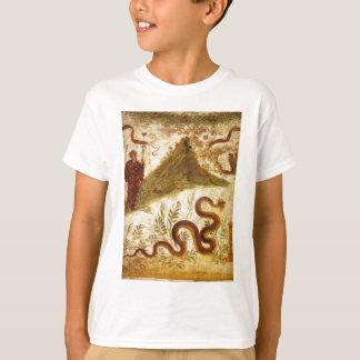 ポンペイのバッカスおよび蛇Agathodaimon Tシャツ