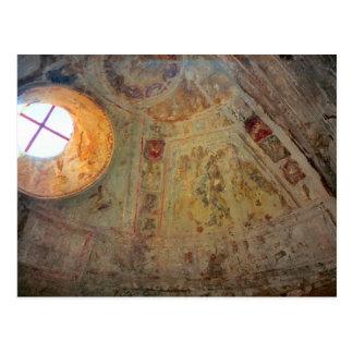 ポンペイの壁画が付いている半球形の屋根 ポストカード