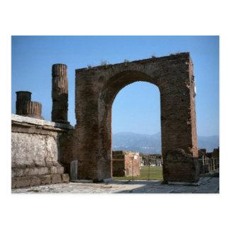 ポンペイの掘られたローマ都市 ポストカード