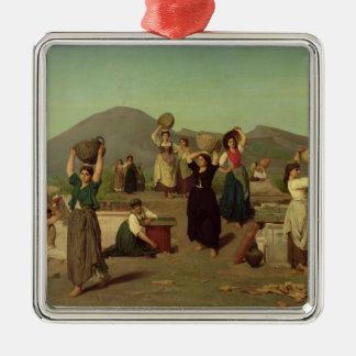 ポンペイ1865年の掘削 メタルオーナメント