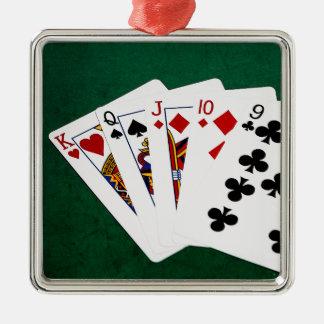 ポーカーの持ち札-まっすぐに-王To 9 メタルオーナメント