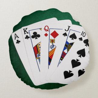 ポーカーの持ち札-まっすぐに- 10へのエース ラウンドクッション