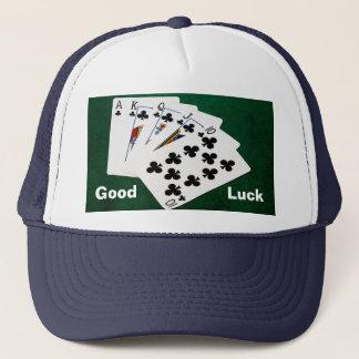 ポーカーの持ち札-王室のなフラッシュ-クラブスーツ キャップ