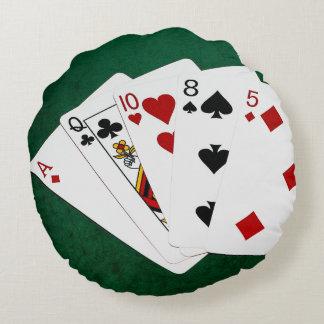 ポーカーの持ち札-高いカード-エース ラウンドクッション