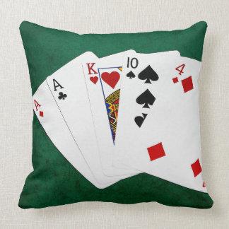 ポーカーの持ち札- 1組-エース クッション