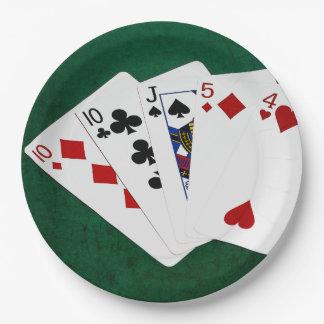 ポーカーの持ち札- 1組- 10 ペーパープレート