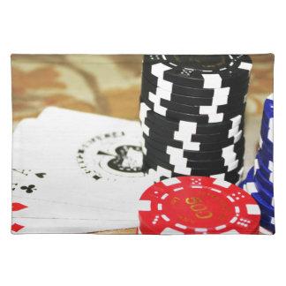 ポーカーカードのエースの破片の賭博カジノの勝利ゲーム ランチョンマット