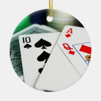 ポーカーカード セラミックオーナメント