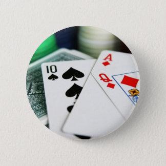 ポーカーカード 5.7CM 丸型バッジ