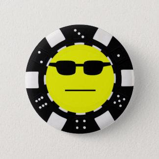 ポーカーフェースのポーカー用のチップの折り襟略章 5.7CM 丸型バッジ