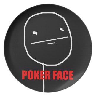 ポーカーフェース-ブラックプレート プレート