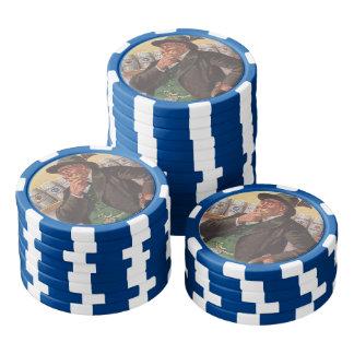 ポーカー用のチップのオクトーバーフェストのパーティーフリップ眺め米国ドイツ ポーカーチップ