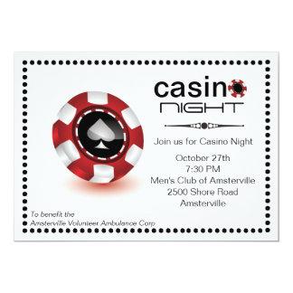 ポーカー用のチップのカジノのパーティの招待状 カード