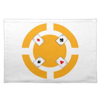 ポーカー用のチップ-オレンジ ランチョンマット