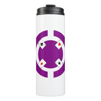 ポーカー用のチップ-紫色 タンブラー