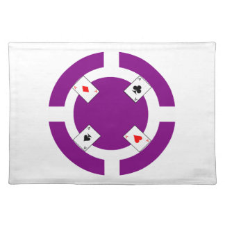 ポーカー用のチップ-紫色 ランチョンマット