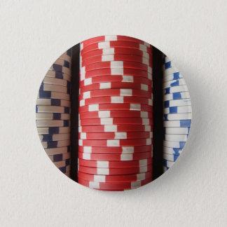 ポーカー用のチップ 缶バッジ